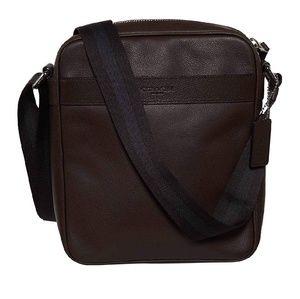 COACH Mahogany Leather Flight Bag Crossbody Unisex